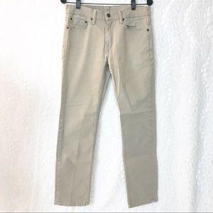 Levi's men's 511 beige khaki 511 jeans 31x30